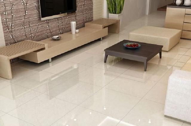 Gạch lát nền Trung Quốc có màu sắc trắng giúp cho căn phòng trở nên sang trọng hơn
