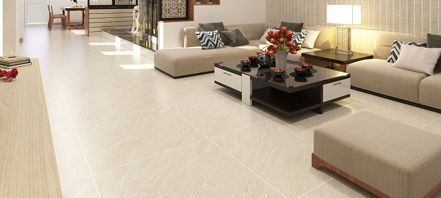Gạch lát nền Tây Ban Nha 80x80 giúp không gian căn phòng trông rộng rãi hơn