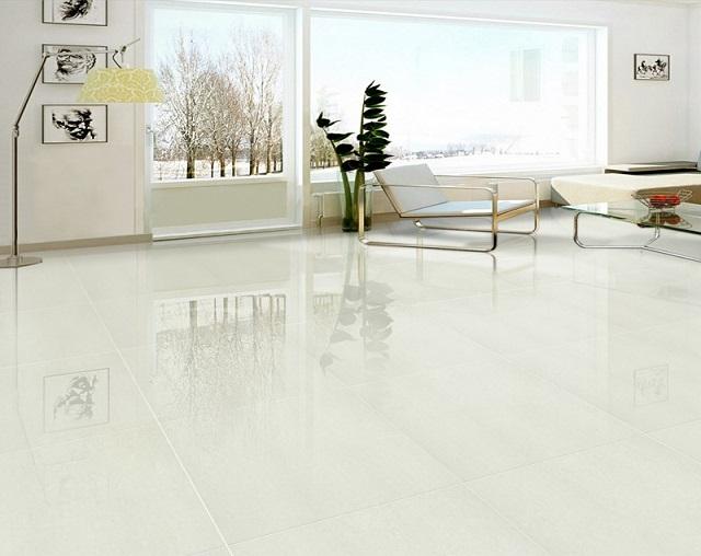 Ưu điểm của gạch granite là độ cứng và chống mài mòn rất tốt, sáng bóng đẹp mắt