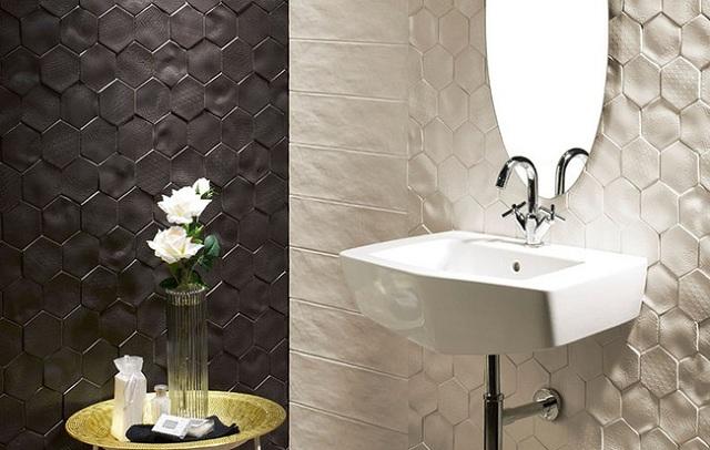 Sử dụng gạch lục giác Malaysia cho phòng tắm thêm hiện đại và tinh tế