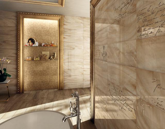 Vẻ đẹp cuốn hút của căn phòng tắm sử dụng gạch ốp tường Italia