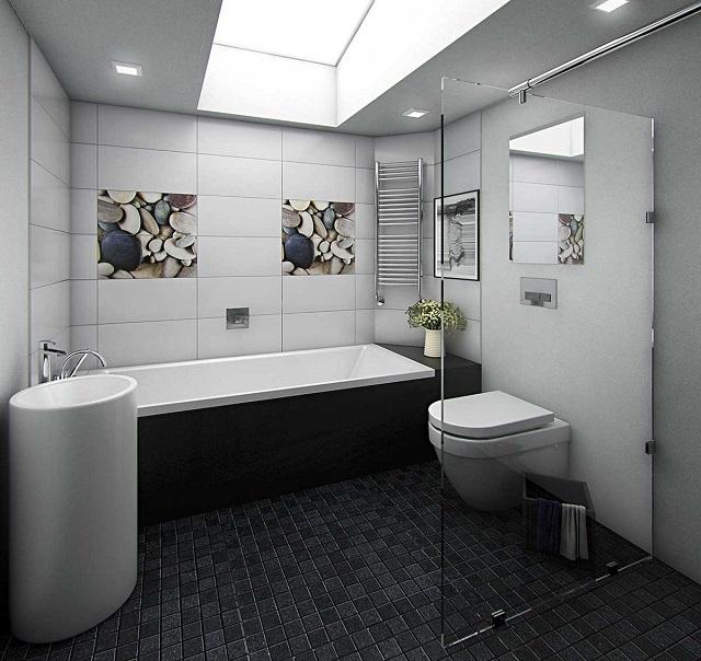 Gạch ốp vệ sinh Ấn Độ phù hợp để ốp, lát nhà tắm, nhà vệ sinh, đảm bảo an toàn khi sử dụng