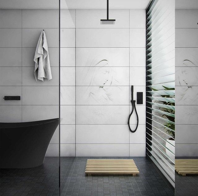 Gạch ốp vệ sinh Ấn Độ có họa tiết sang trọng mang tới nét đẹp tinh tế và đẳng cấp cho nhà vệ sinh