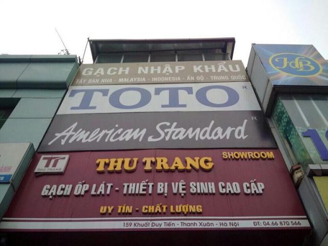 Showroom gạch ốp lát – thiết bị vệ sinh cao cấp Thu Trang
